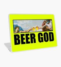 Beer God Michelangelo Painting of Sistine Chapel  Laptop Skin