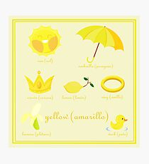Colors: yellow (Los colores: amarillo) Photographic Print