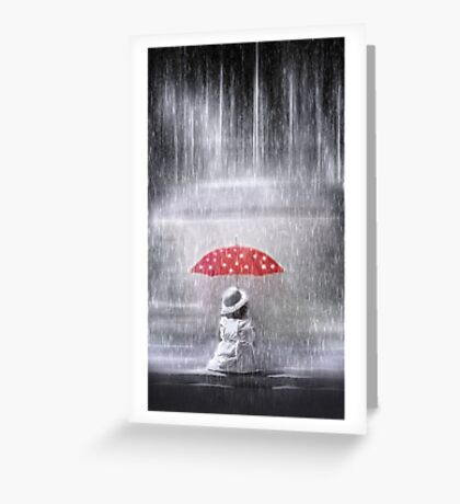 Staying dry Greeting Card