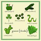 Colors: green (Los colores: verde) by alapapaju