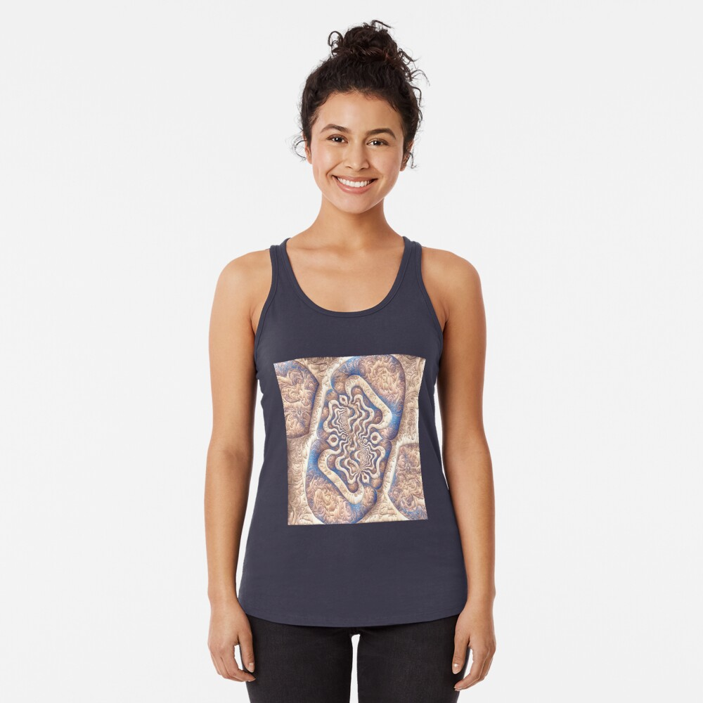 Abstract ancient motif Racerback Tank Top