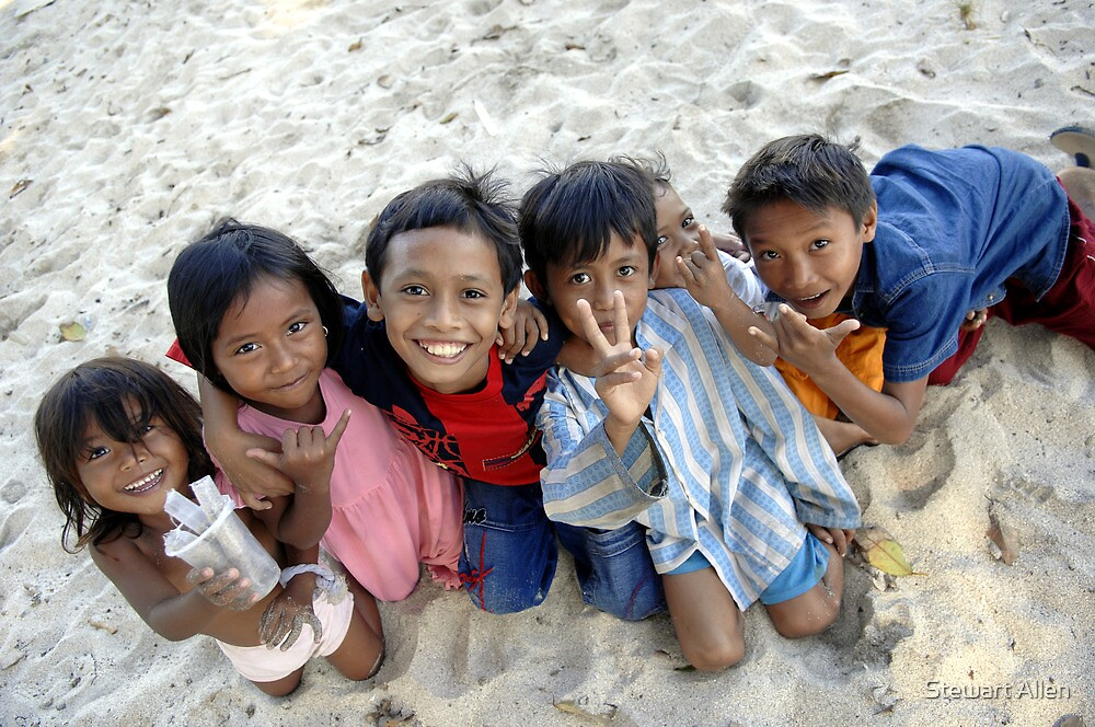 Smiling Kids, Sumbawa, Indonesia. by Stewart Allen