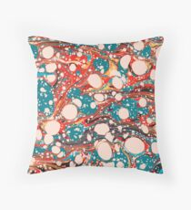 Psychedelic Marbled Paper Splash Blob Pepe Psyche Throw Pillow