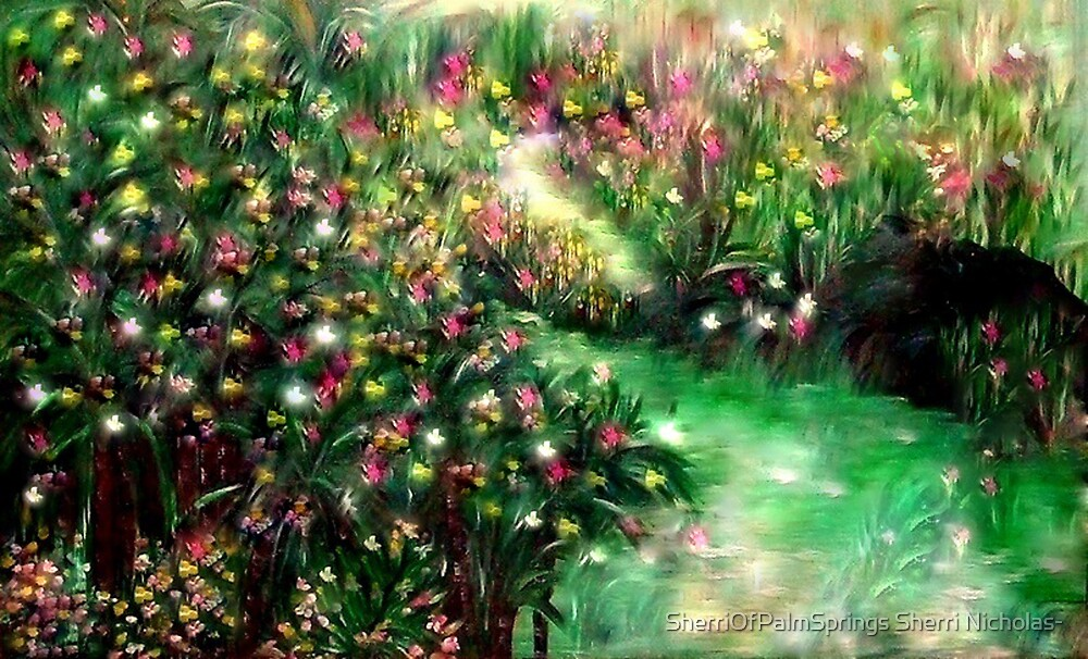 THE MAGICAL GARDEN** ITS A WONDERFUL WORLD ..LOUIE ARMSTRONG by Sherri Palm Springs  Nicholas