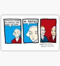 No Parties Sticker