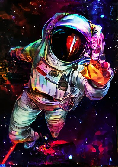 to an astronaut the outer space appears in which colour - photo #39