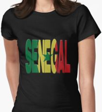 Senegal flag Womens Fitted T-Shirt