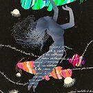 Space Surrealism Pop Vintage Woman II by Pepe Psyche