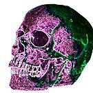 Purple and Green glowing skull by SJohnsonartist