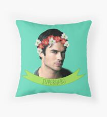 Ian Somerhalder Superhero Throw Pillow