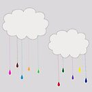 Rainbow Colored Rain and Clouds by DesignsByDebQ
