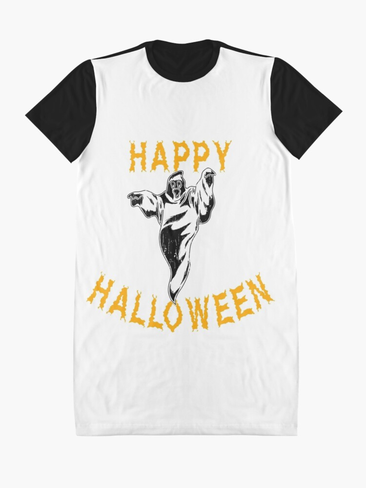Alternate view of Cute Ghost Halloween Holiday T shirt Graphic T-Shirt Dress