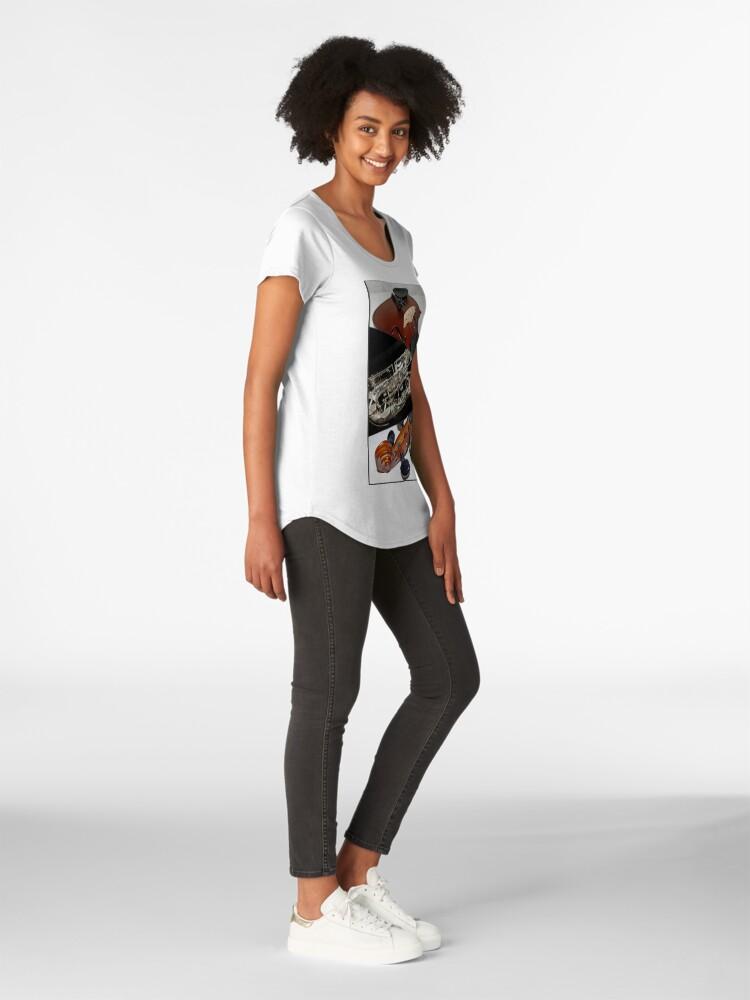 Alternative Ansicht von Violin and Saxophone Collage Premium Rundhals-Shirt