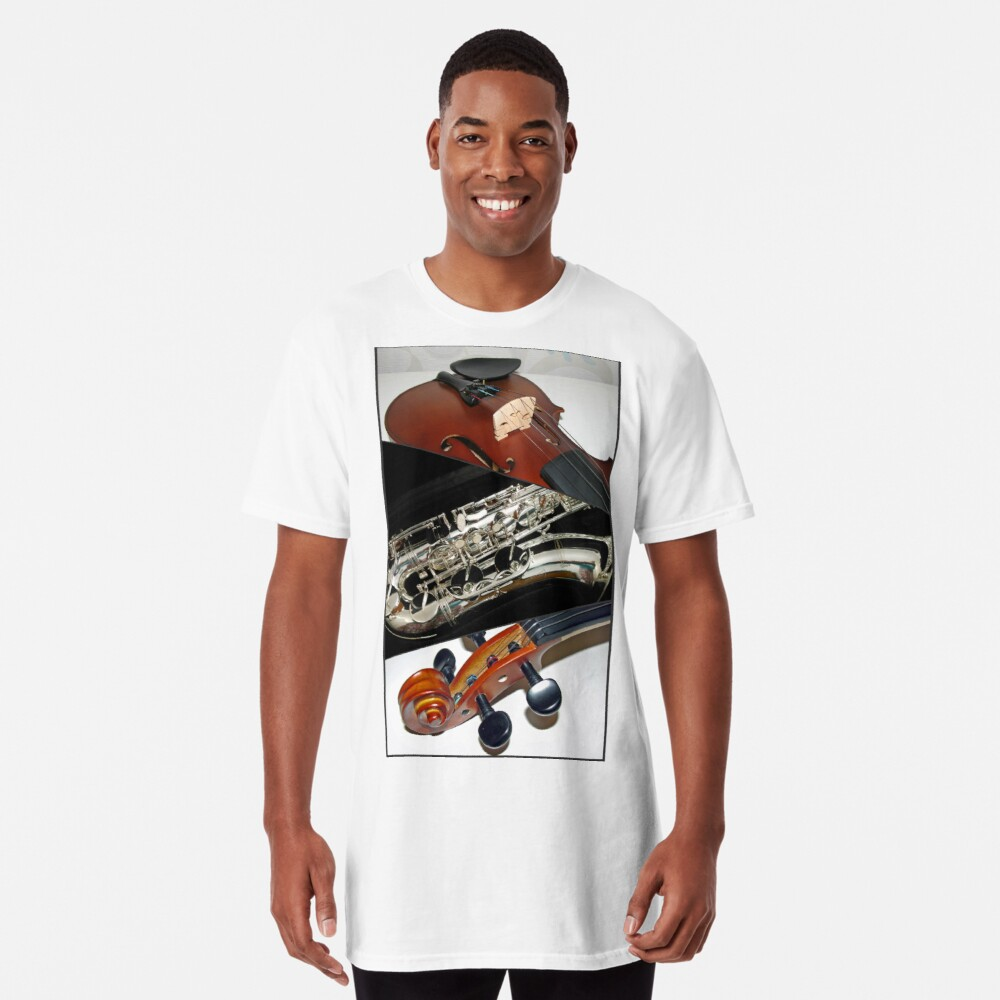 Violin and Saxophone Collage Longshirt