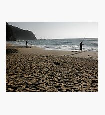 Beach Fishing, Stanwell Park, Australia. Photographic Print