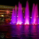 Holiday fountains in pink von Celeste Mookherjee