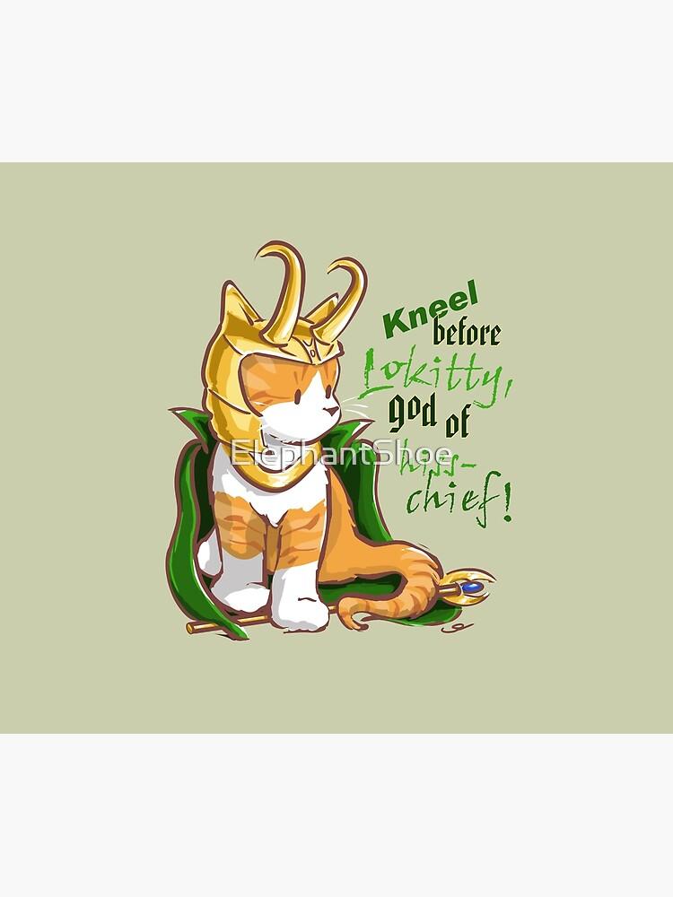 Kneel Before Lokitty! (chibi version) by ElephantShoe