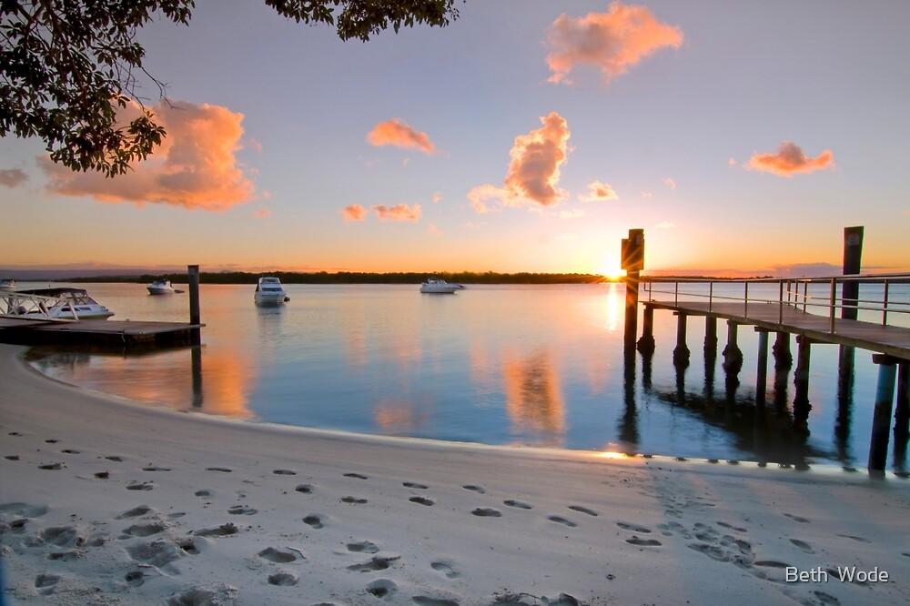 Tippler's Reflections - South Stradbroke Island Queensland. by Beth  Wode