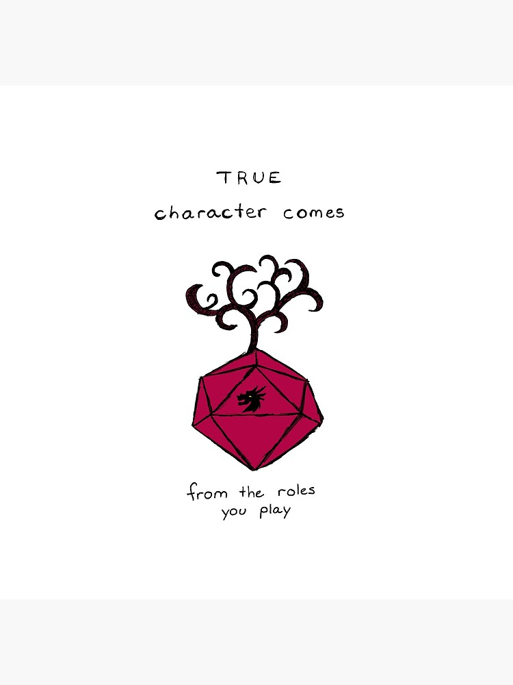 D&D Quote with D20  by Corlainey
