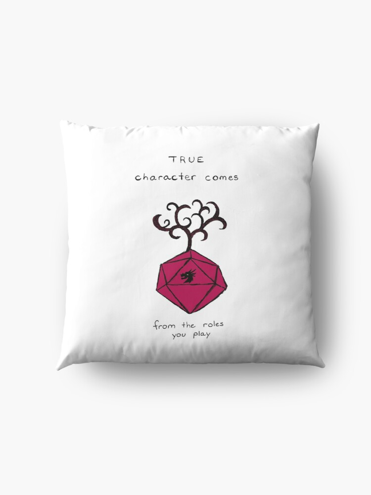 Alternate view of D&D Quote with D20  Floor Pillow