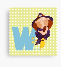 w for witch Canvas Print