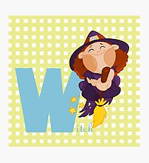 w for witch Photographic Print