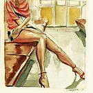 Subway girl by Joaquín Aldeguer