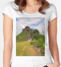 Launceston Castle Women's Fitted Scoop T-Shirt