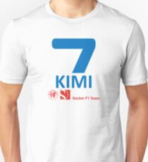 Kimi Raikkonen Sauber F1 2019 Unisex T-Shirt