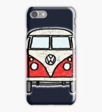 Red White Campervan Worn Well iPhone Case/Skin