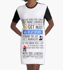 When Life Gives You Lemons Graphic T-Shirt Dress