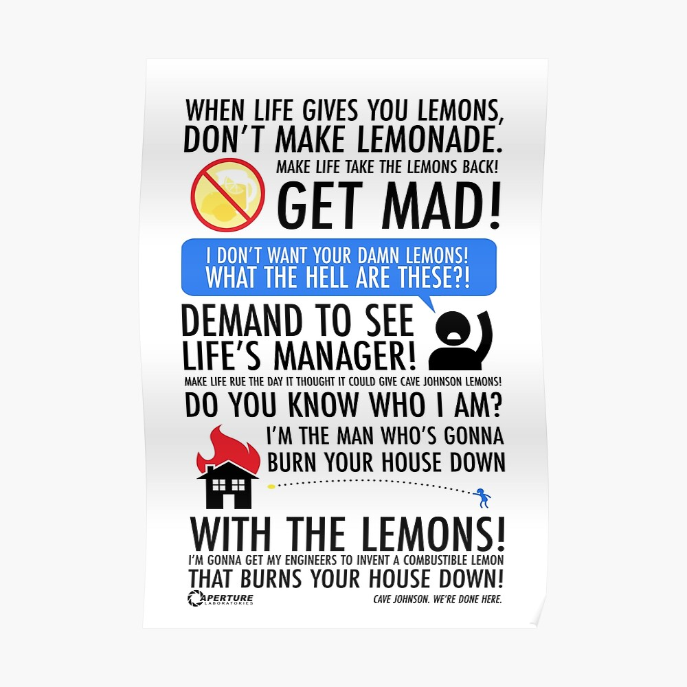 Cuando la vida te da limones Póster