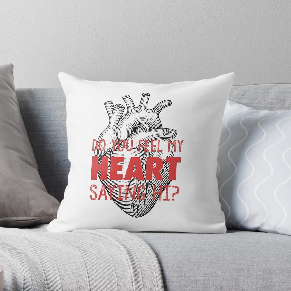 Fun Home: Heart Saying Hi Anatomy Cojín
