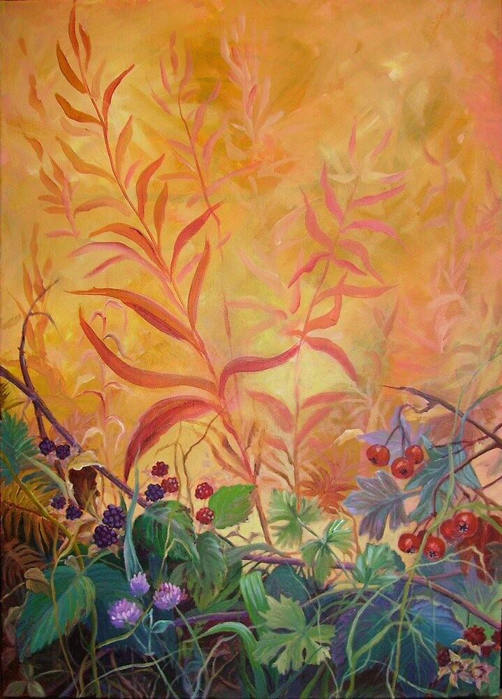Autumn Hedgrow by Maureen Whittaker