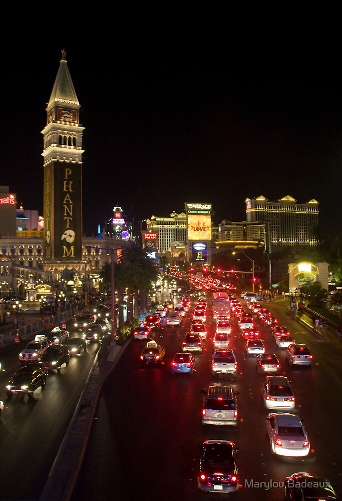 Las Vegas at Night by Marylou Badeaux