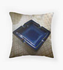 Ashtray, Blue Bird Cafe - Shenzhen, China Throw Pillow