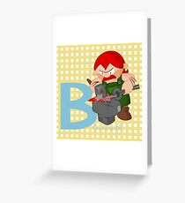 b for blacksmith Greeting Card