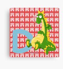 d for dragon Canvas Print