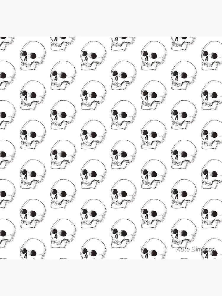 cráneo blanco y negro de katedakat