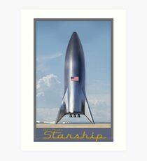 Elon Musk's Starship Art Print