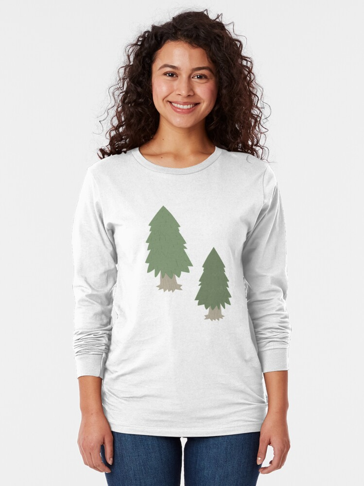 Alternate view of Cut your own Christmas tree (Patterns Please) Long Sleeve T-Shirt