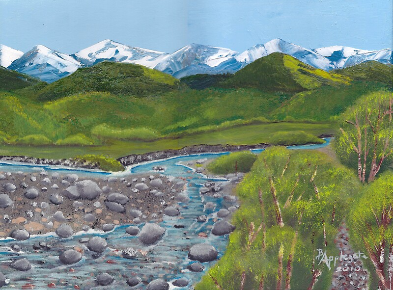 Quot Mountain Creek Western Landscape Oil Painting Quot By
