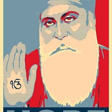 HOPE GURU LOVE SIKH Obama Obey Style T-Shirt, Desi Indian Art, Proud Sikhism, Punjabi, Graffiti Poster by prezziefactory