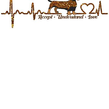 Dachshund Heartbeat ornament Lovers tShirt by bestdesign4u