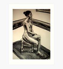 seated woman 3 Art Print