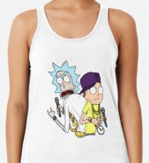 """Rick and Morty™ Rap Mode """"Gettin' Schwifty Wit It"""" Racerback Tank Top"""