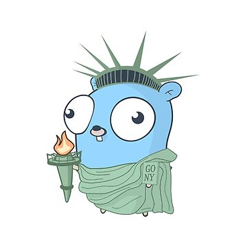 The Go Gopher: Statue of Liberty by hellkni9ht