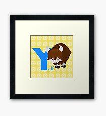 y for yak Framed Print