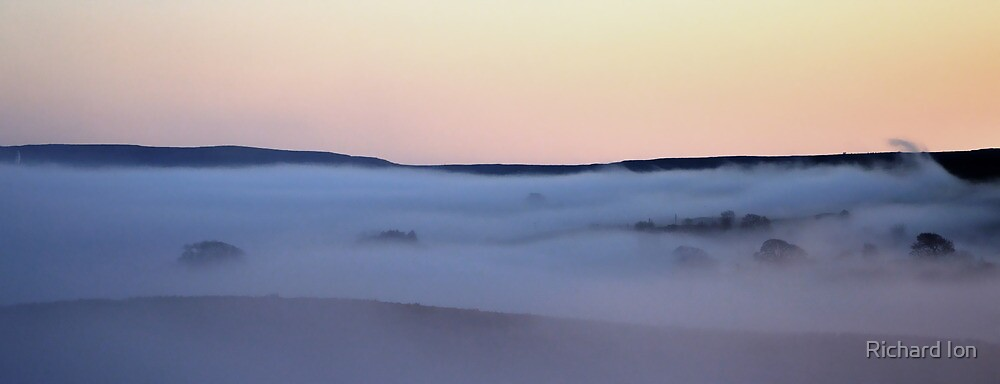 Ribblesdale in the Mist by Richard Ion