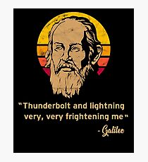Thunderbolt and lightning Galileo Vintage Retro Photographic Print